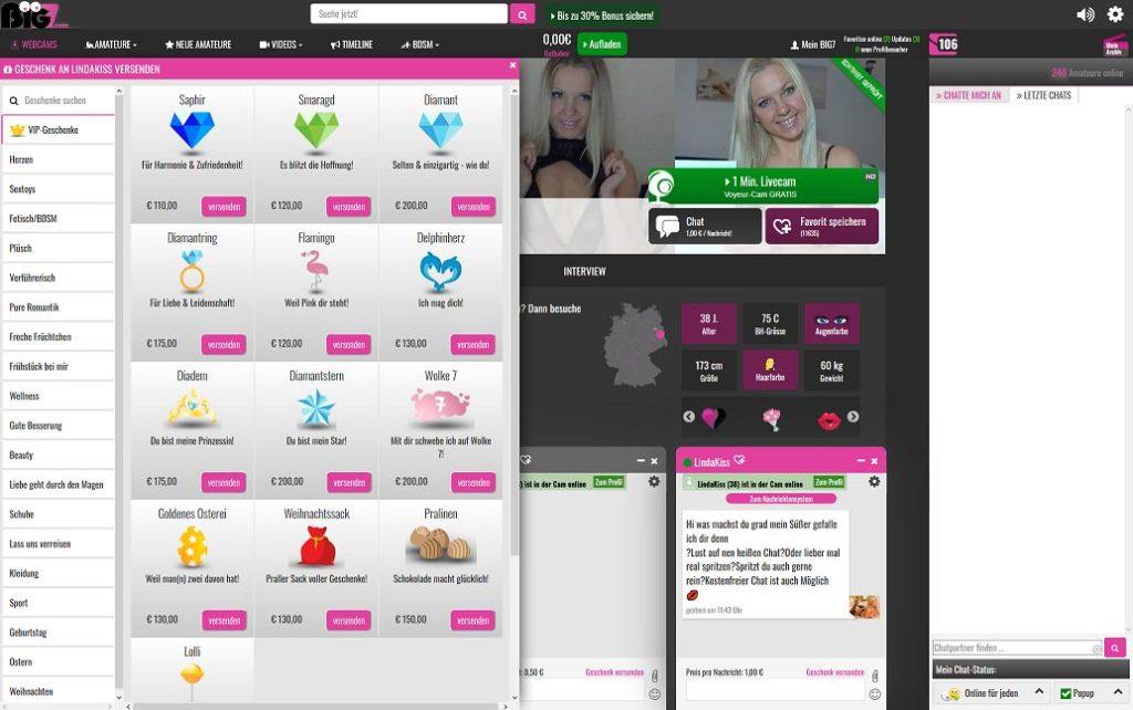 Chat nachrichtensystem Big7